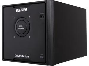 BUFFALO DriveStation Quad 24TB (4 x 6TB) USB 3.0 High Performance RAID Array with Optimized Hard Drives HD-QH24TU3R5 Black