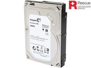 "Seagate Surveillance HDD ST3000VX005 3TB 5900 RPM 64MB Cache SATA 6.0Gb/s 3.5"" Internal Hard Drive + Rescue Data Recovery ..."