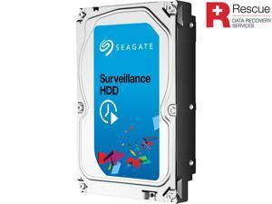 "Seagate Surveillance HDD ST3000VX005 3TB 5900 RPM 64MB Cache SATA 6.0Gb/s 3.5"" Internal Hard Drive + Rescue Data Recovery ..."