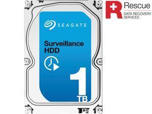 "Seagate Surveillance HDD ST1000VX003 1TB 64MB Cache SATA 6.0Gb/s 3.5"" Internal Hard Drive + Rescue Data Recoery Services"