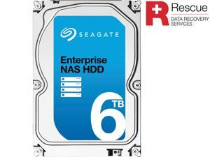 "Seagate Enterprise NAS ST6000VN0011 6TB 7200 RPM 128MB Cache SATA 6.0Gb/s 3.5"" Internal Hard Drive + Rescue Data Recovery Services"