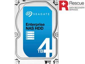 "Seagate Enterprise NAS ST4000VN0011 4TB 7200 RPM 128MB Cache SATA 6.0Gb/s 3.5"" Internal Hard Drive + Rescue Data Recovery Services"