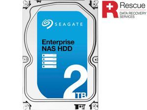"Seagate Enterprise NAS ST2000VN0011 2TB 7200 RPM 128MB Cache SATA 6.0Gb/s 3.5"" Internal Hard Drive + Rescue Data Recovery Services"
