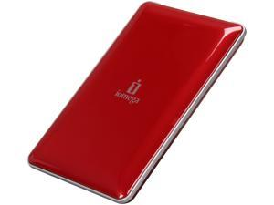 "iomega eGo Portable 500GB 2.5"" USB 2.0 / Firewire400 / Firewire800 Mac Storage (Ruby Red) Model 34629"