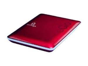 """iomega eGo Compact 500GB USB 2.0 2.5"""" Portable Hard Drive with Protection Suite 34895 Ruby Red"""