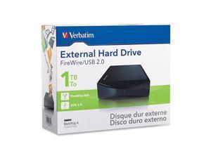 """Verbatim 2TB USB / FireWire / i.LINK 3.5"""" External Hard Drive"""