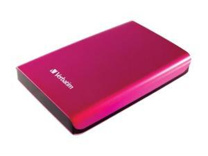 "Verbatim Store n Go 500GB USB 3.0 2.5"" Portable Hard Drive 97656 Hot Pink"