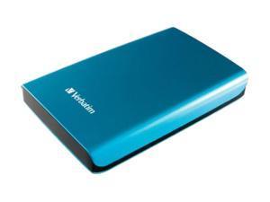 "Verbatim Store n Go 500GB USB 3.0 2.5"" Portable Hard Drive 97657 Caribbean Blue"