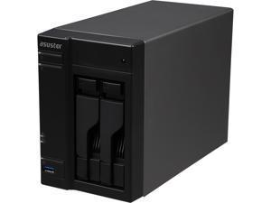 Asustor AS6102T 2-Bay NAS, Intel Celeron Dual-Core, 2 GB SO-DIMM DDR3L, GbE x 2, USB 3.0 & eSATA, WoL, System Sleep Mode, AES-NI hardware encryption