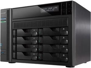 Asustor AS6208T 8-Bay NAS, Intel Celeron Quad-Core, 4 GB SO-DIMM DDR3L, GbE x 4, USB 3.0 & eSATA, WoL, System Sleep Mode, AES-NI hardware encryption, with lockable tray