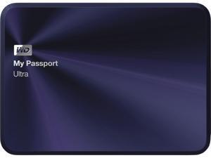 WD 4TB My Passport Ultra Metal Edition Hard Drives - Portable External USB 3.0 Model WDBEZW0040BBA-NESN Navy
