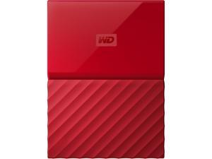 WD 3TB My Passport Portable Hard Drive USB 3.0 Model WDBYFT0030BRD-WESN Red