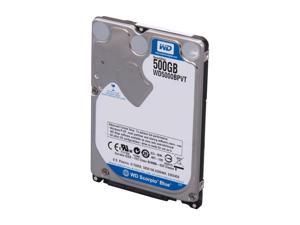 "WD Scorpio Blue WD5000BPVT-FR 500GB 5400 RPM 8MB Cache SATA 3.0Gb/s 2.5"" Internal Notebook Hard Drive -Manufacture Recertified ..."