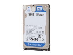 "Western Digital Scorpio Blue WD1600BEVT 160GB 5400 RPM 8MB Cache SATA 3.0Gb/s 2.5"" Internal Notebook Hard Drive Bare Drive"