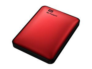 Western Digital My Passport 750GB USB 3.0 Portable Hard Drive (Red)