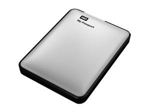 Western Digital My Passport 750GB USB 3.0 Portable Hard Drive (Silver)