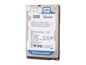 "WD Scorpio Blue WD2500BPVT 250GB 5400 RPM 8MB Cache SATA 3.0Gb/s 2.5"" Internal Notebook Hard Drive Bare Drive"