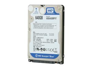 "WD Scorpio Blue WD6400BPVT 640GB 5400 RPM 8MB Cache SATA 3.0Gb/s 2.5"" Internal Notebook Hard Drive Bare Drive"