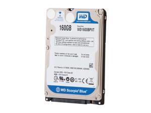 "WD Scorpio Blue WD1600BPVT-FR 160GB 5400 RPM 8MB Cache SATA 3.0Gb/s 2.5"" Internal Notebook Hard Drive Bare Drive"