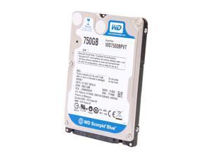 "Western Digital Scorpio Blue WD7500BPVT 750GB 5400 RPM 8MB Cache SATA 3.0Gb/s 2.5"" Internal Notebook Hard Drive Bare Drive"