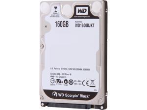 "Western Digital Scorpio Black WD1600BJKT 160GB 7200 RPM 16MB Cache SATA 3.0Gb/s 2.5"" Internal Notebook Hard Drive -Manufacture Recertified Bare Drive"