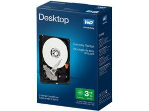 "WD Desktop Mainstream WDBH2D0030HNC-NRSN 3TB IntelliPower SATA 6.0Gb/s 3.5"" Mainstream Internal Hard Drive-Retail kit"