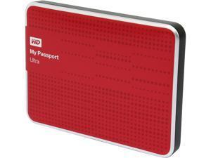 WD 500GB My Passport Ultra Portable Hard Drive USB 3.0 Model WDBPGC5000ARD-NESN Red