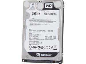 """WD BLACK SERIES WD7500BPKX 750GB 7200 RPM 16MB Cache SATA 6.0Gb/s 2.5"""" Internal Notebook Hard Drive Bare Drive"""