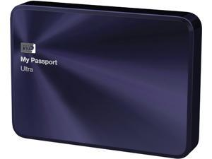 WD 2TB Blue-Black My Passport Ultra Metal Edition Portable External Hard Drive - USB 3.0 - WDBEZW0020BBA-NESN