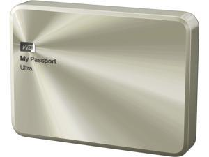 WD 2TB Gold My Passport Ultra Metal Anniversary Edition Portable External Hard Drive - - WDBEZW0020BCG-NESN