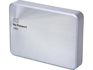 WD 2TB Silver My Passport Ultra Metal Edition Portable External Hard Drive - USB 3.0 - WDBEZW0020BSL-NESN