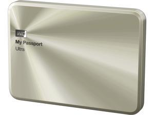 WD 1TB Gold My Passport Ultra Metal Anniversary Edition Portable External Hard Drive - USB 3.0 - WDBTYH0010BCG-NESN