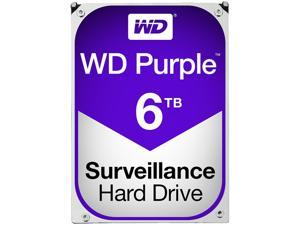 WD Purple 6TB Surveillance Hard Disk Drive - 5400 RPM Class SATA 6Gb/s 64MB Cache 3.5 Inch - WD60PURX