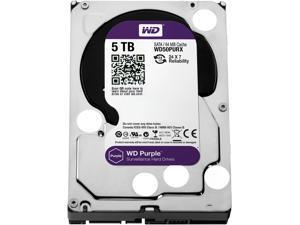 """WD Purple WD50PURX 5TB 64MB Cache SATA 6.0Gb/s 3.5"""" Surveillance Hard Drive"""