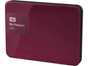 WD 1TB Berry My Passport Ultra Portable External Hard Drive - USB 3.0 - WDBGPU0010BBY-NESN
