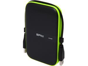 Silicon Power 2TB Armor A60 Shockproof and Water-Resistant Portable Hard Drive USB 3.0 Model SP020TBPHDA60S3K Black
