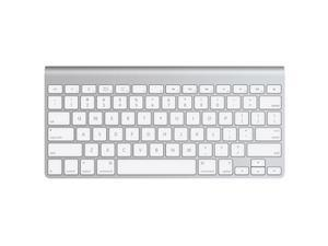Apple MC184LL/A White/Silver Bluetooth Wireless Slim Keyboard