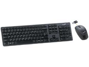 Genius Slimstar 8000 Black RF Wireless Keyboard Combo