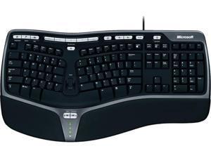 Microsoft B2M-00008 Black USB Wired Ergonomic Keyboard