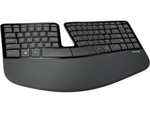 Microsoft L5V-00006 Black USB RF Wireless Ergonomic Keyboard, Mouse and Numeric Pad Set