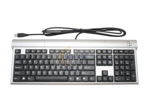 SolidTek KB-P5000H Silver & Black USB Standard Keyboard