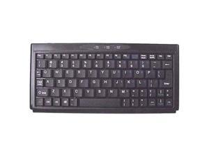 "SolidTek KBP-3100BU Black USB Wired Super Mini 4"" x 9"" Keyboard"
