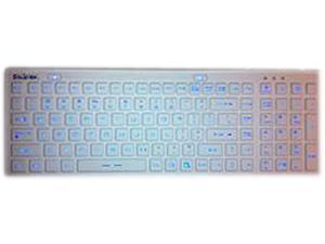 SolidTek KB-IKB106BL White USB Wired Waterproof Backlit Keyboard