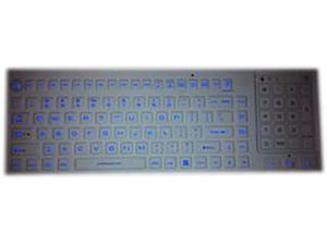 SolidTek KB-IKB700BL White USB Wired Washable Backlit Keyboard