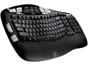 Logitech K350 2.4GHz Wireless Ergonomic Keyboard - Black