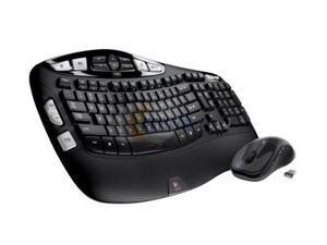 Logitech Keyboard and Mouse 920-002555 Black RF Wireless Ergonomic Keyboard