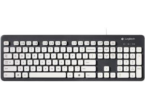 Logitech K310 920-004033 Black,White Wired Washable Keyboard