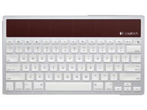 Logitech Wireless Solar Keyboard K760 for Mac, iPad and iPhone 920-003885 White Bluetooth Wireless Keyboard