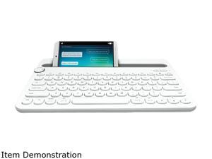 Logitech Bluetooth Multi-Device Keyboard 920-006381 White Bluetooth Wireless Small Keyboards