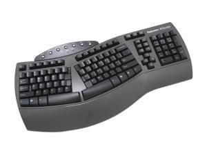 Fellowes Microban Split Design Keyboard 98915 Black USB Wired Ergonomic Keyboard